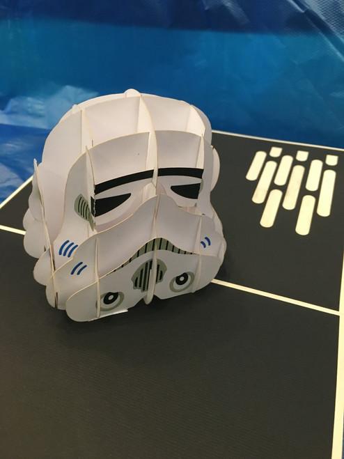 Handmade 3D Kirigami Card with envelope  Trooper Star Wars