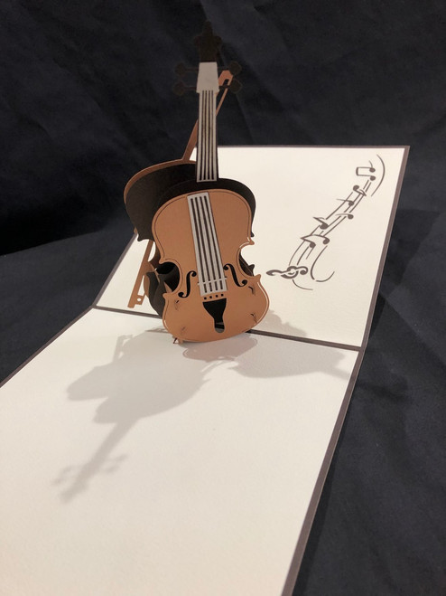 Handmade 3D Kirigami Card with envelope  Cello