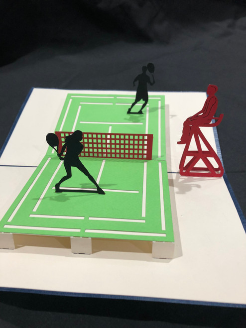 Handmade 3D Pop Up Cards  Kirigami  Tennis Pickel Ball