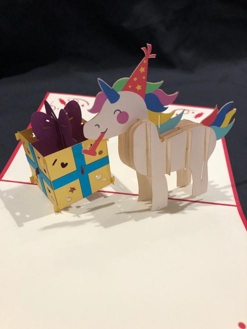 Handmade 3D Pop Up Cards  Kirigami  Birthday Unicorn