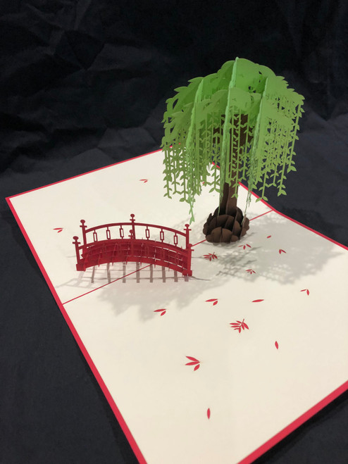 Handmade 3D Kirigami Card  Willow Tree Style may vary
