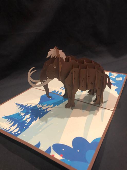 Handmade 3D Kirigami Card Mammoth