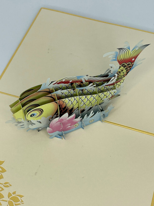Handmade 3D Kirigami Card  with envelope  Gator Aligator Crocodile Jungle
