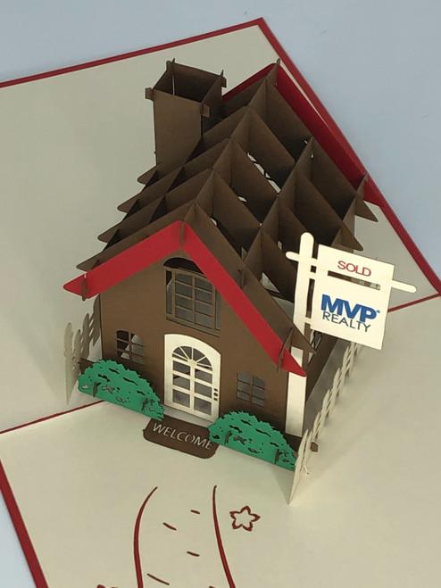 Handmade 3D Kirigami Card  with envelope  MVP Realty Real Estate