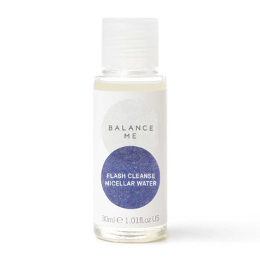 Balance Me Flash Cleanse Micellar Water 30ml on a white background