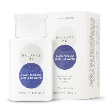 Balance Me Flash Cleanse Micellar Water on a white background