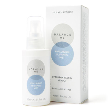 Balance Me Hyaluronic Plumping Mist 30ml on a white background