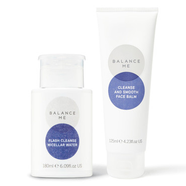 Balance Me Cleanse + Brighten bundle (2 products) on a white background