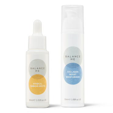 Balance Me Glow Booster bundle (2 products) on a white background