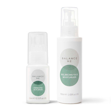 Balance Me Clear + Calm bundle (2 products) on a white background