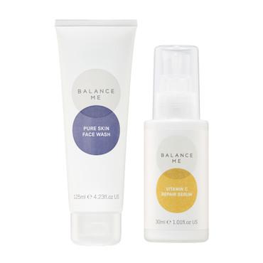 Balance Me Balance + Brighten kit (2 products) on a white background