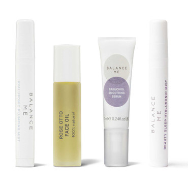 Balance Me The Menopause Years Routine  collection (4 products) on a white background