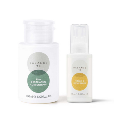 Balance Me Brighten + Firm bundle (2 products) on a white background