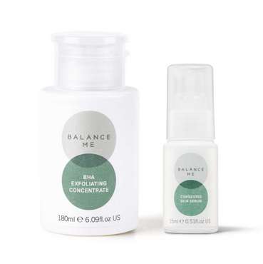Balance Me Clears Pores + Calms bundle (2 products) on a white background