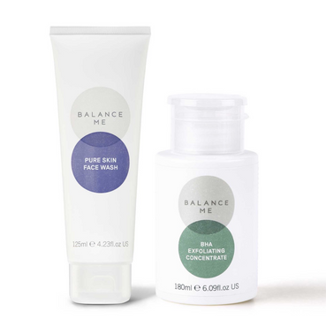Balance Me Brighten + Tighten bundle (2 products) on a white background