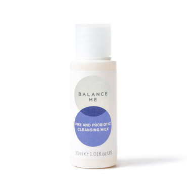 Balance Me Pre and Probiotic Cleansing Milk 30ml on a white background