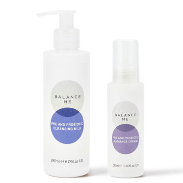 Balance Me Pre and Probiotics Kit including Pre and Probiotic Cleansing Milk 180ml and Pre and Probiotic Radiance Cream 50ml