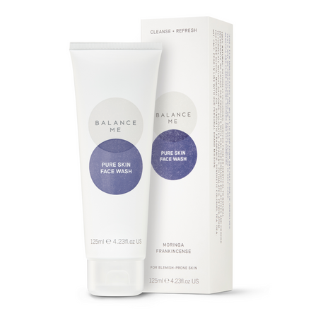 Balance Me Pure Skin Face Wash 125ml on a white background