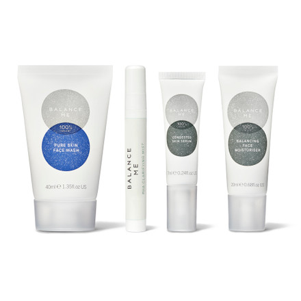 Balance Me Clearer Skin in 7 Days Collection (4 products) on a white background