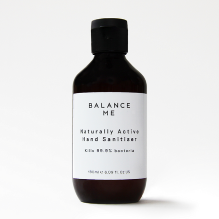 Balance Me Naturally Active Hand Sanitiser 180ml on a white background