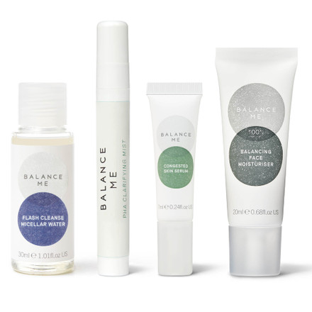 Balance Me The Teen Years Routine collection (4 products) on a white background