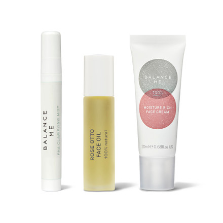Balance Me Rosacea 3 Step Routine (3 products) on a white background