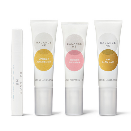 Balance Me Brighter Skin in 7 Days Collection (4 products) on a white background