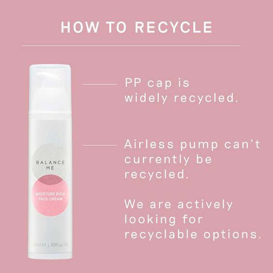 How to recycle the Moisture Rich Face Cream 50ml packaging