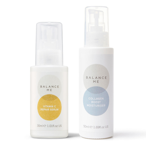 Balance Me Hydrate + Glow bundle (2 products) on a white background