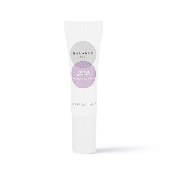 Balance Me Pre and Probiotic Radiance Cream 10ml on a white background