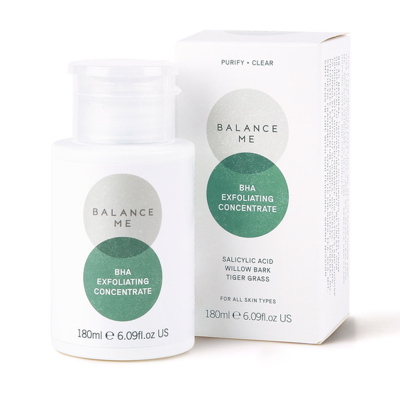 Balance Me BHA Exfoliating Concentrate on a white background