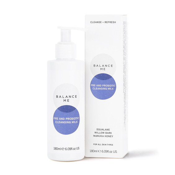 Balance Me Pre and Probiotic Cleansing Milk 180ml on a white background