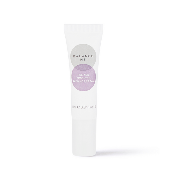 Balance Me Pre and Pro Biotic Radiance Cream on a white background