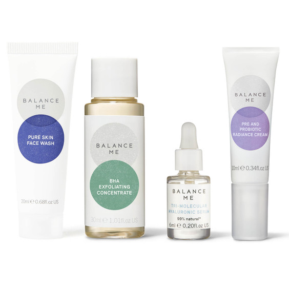 Balance Me Stressed Out Skin Routine (4 products) on a white background