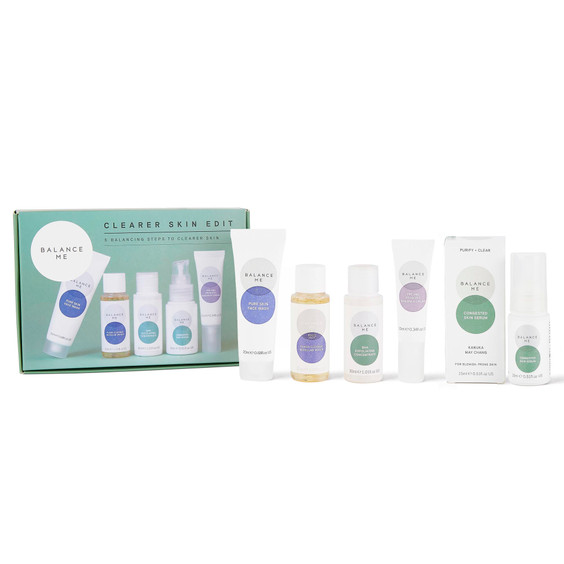 Balance Me Clearer Skin Edit box (5 products) on a white background