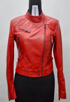 Women's Red Zipped Jacket