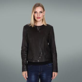 Women's Black Three-Button Jacket