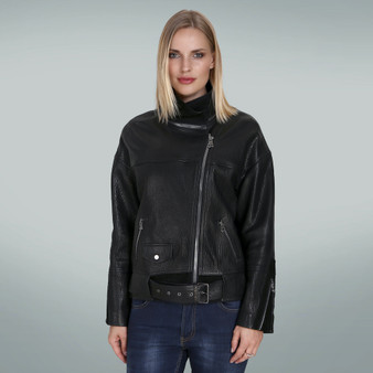 Women's Black collar jacket