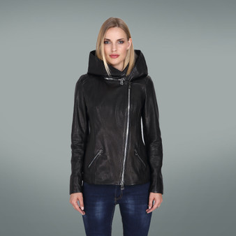 Women's Black Hoody Jacket