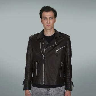 Men's Black Croc Motorbike Style Jacket