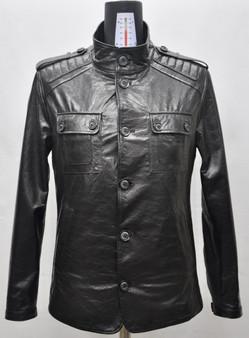 Men's Black Jumbo Leather Jacket
