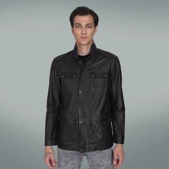 Men's Black Classic Leather Jacket