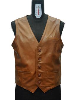 Men's Brown Vest with side details