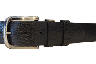 Men's Black Soft Leather Belt
