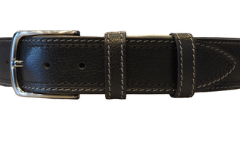 Men's Black Sports Belt with White Stiches