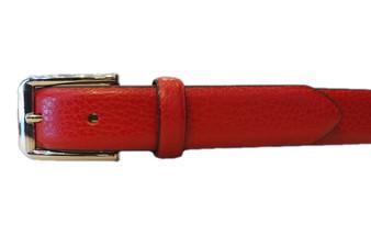 Women's Red Leather Belt