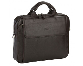 1707 Dark Brown Business Bag Unisex with a front Pocket detail