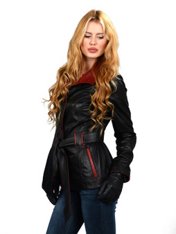 Women's  Black & Red Jacket Ho