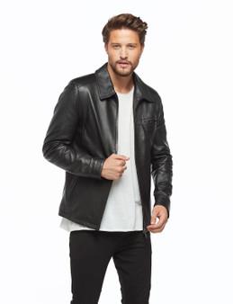 Men's Black Jacket Ho 114 Chest Pocket