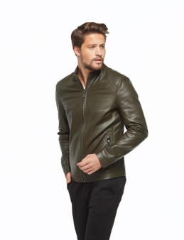 Men's Dark Khaki Olive Jacket Ho
